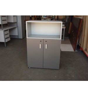 Grey Double Door Storage Unit