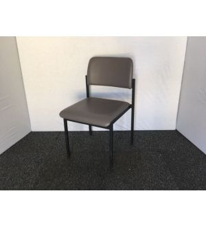 Grey & Black Frame Stacking Chairs