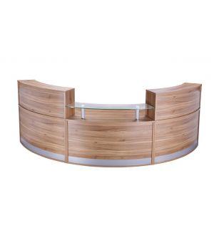 High Curved Reception Desk Unit