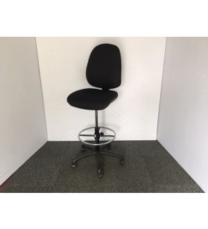 Black Himpa Draughtsman Chair