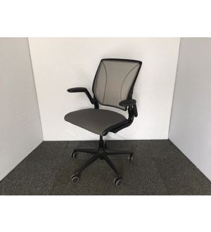 Human Scale Liberty Operator Chair in Black & Grey
