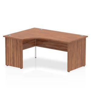 Impulse Maple Panel End Crescent Desk