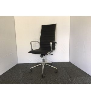 Italian High Back Ribbed Desk Chair