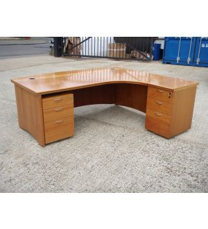 Large Executive Desk with Desk High Pedestal and Mobile Pedestal