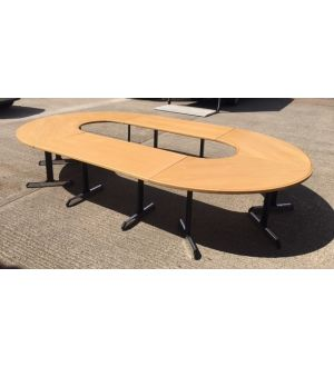 Large Modular Meeting Table With Inlay