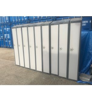 Grey Two Tone Single Door Locker