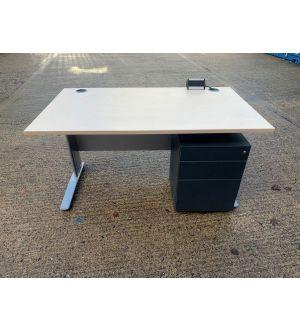 Straight Desk 1400x800 plus Pedestal
