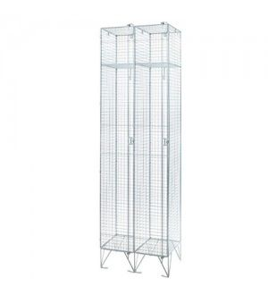 Mesh Single Door Locker Nest of Two