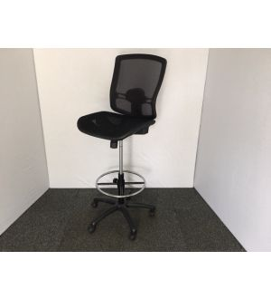 Black Mesh Draughtsman Chair