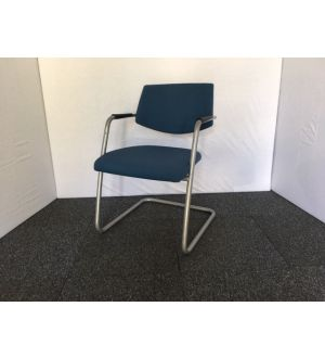 Navy Blue Cantilever Chair