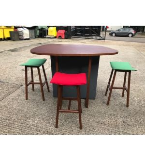 Orangebox Touch Down Tall Table & Matching Stools