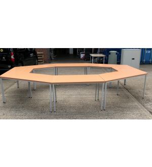 Octagon Meeting Table Set-Up