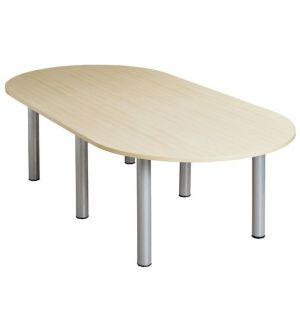 CLM Oval Meeting Room Table 2400Wx1200D