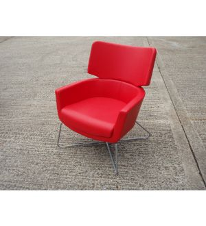 Red Leather Reception Chair