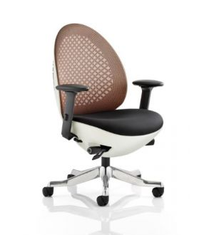 Revo White Shell Mandarin Mesh Chair