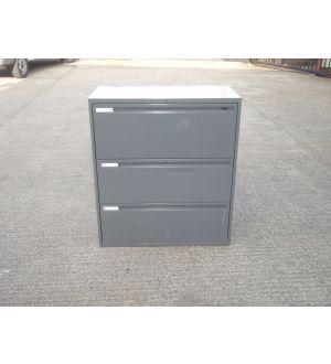 Grey 3 Drawer Side-Filers