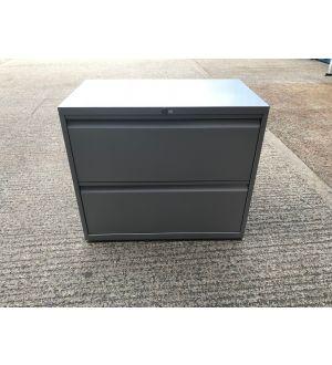 Grey 2 Drawer Side Filer