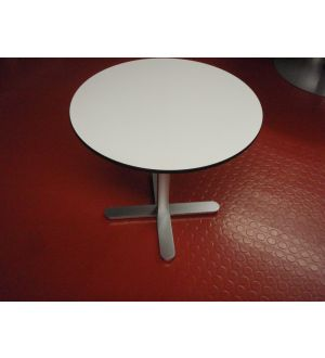 Small Circular Pedestal Base Table