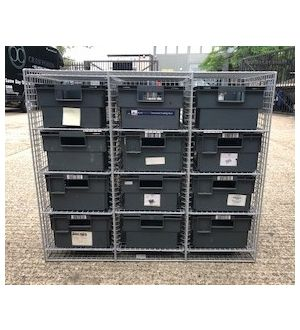 Wire Mesh Post Cabinet With Boxes