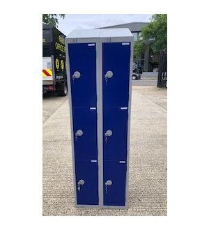 Elite Blue & Grey 6 Door Sloped Top Locker