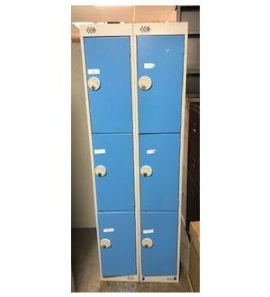 Light Blue & Grey 6 Door Locker