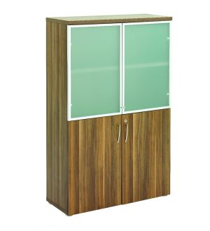 Regency Dark Walnut Storage Glass Doors