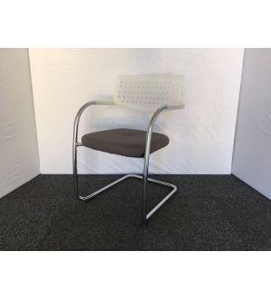 Vitra Visavis Grey & Chrome Visitor Chair