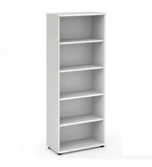 Impulse White 2000 Open Bookcase