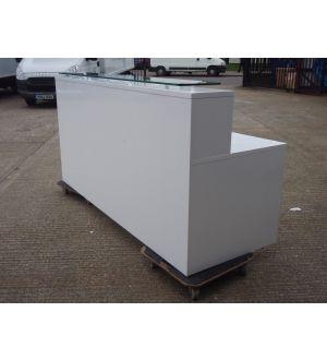 New White Gloss Reception Desk