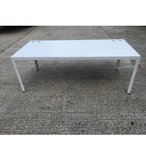 Techno White Boardroom Table