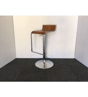 Wooden & Chrome Stool