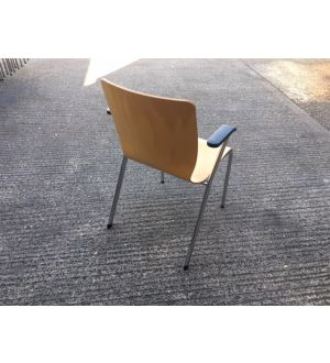 Heavy Duty Wooden Stacking Chair